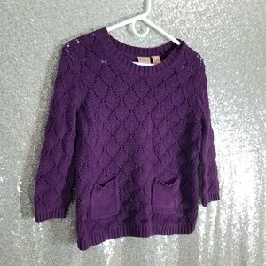 Northcrest 3/4 Sleeve Sweater Top